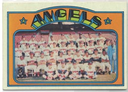 1972 Topps Baseball Cards      071      California Angels TC